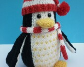 Knitted Toy Penguin Pattern - Plumley the Penguin