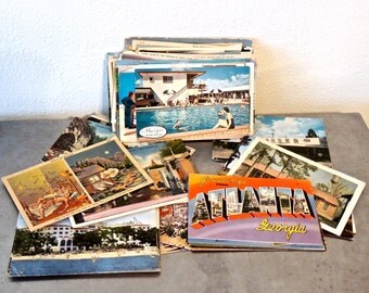 vintage blank postcards set of 108