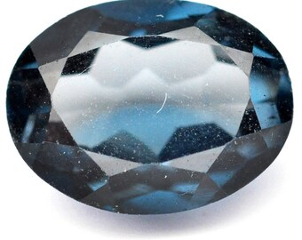 2.05 Ct. Top Quality Natural Mined Gem Oval London Blue Topaz - Free shipping