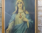 Vintage Religious Mary Magdalene Picture