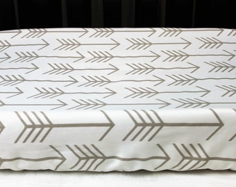 Tan Arrows Changing Pad Cover
