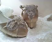 Wedge Wedding Shoe - 1 Inch Heel Wedding Shoe - Bridal Shoe - Wedge Shoe - Custom Wedge Wedding Shoe - Bespoke Wedding Shoe -Wedge For Bride