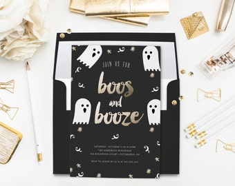 Adult Halloween Party Invitations red adult halloween party invitation Boos And Booze Adult Halloween Party Halloween Invitation Ghosts Invitation Black Gold Party Halloween Party Costume Invitation