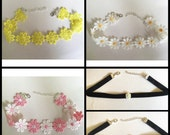 Floral Daisy choker - Choice of 5 designs