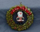 Vintage Hallmark Keepsake Twirl About Santa 1976 Tree Trimmer Collection 1970s Retro Collectible Christmas Ornament