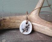 Birch Deer Totem Pendant