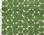 Reduced : Rosette Rosebed green Juliana Horner Fabric Traditions  FQ or more
