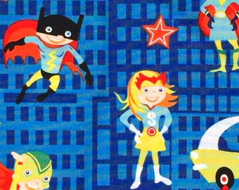 Super Heroes Michael Miller fabric FQ or more