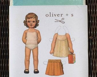 Oliver + S Swingset Tunic & Skirt paper pattern sizes 2T 3T 4 + 5