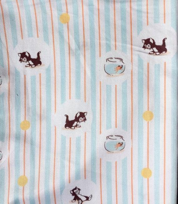 Heather Ross Munki Munki PJ sleeve Cleo & Figaro cotton sateen