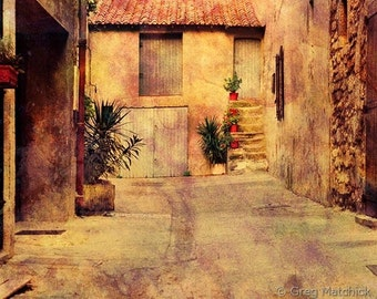 Fine Art Color Travel Photography of Alley in Arles Provence France