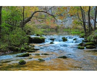 Fine Art Color Nature Photography of Autumn at Alley Spring in Missouri Ozarks