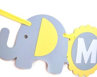 Elephant banner, Baby shower Banner,  Banner name, Elephant Birthday, baby shower party banner, Elephant Handmade Banner, A555