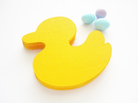 18 Duck Die cuts, (3.5 inches) Textured Cardstock  Die cut , Duck Baby Shower, A132