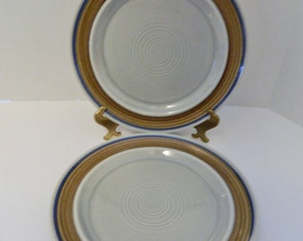 Metlox Poppytrail Bandero Made in California USA Hand Decorated 2 Dinner Plates