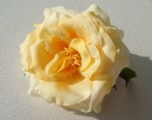YELLOW rose wedding flower hair clip / yellow flower / wedding flower comb / flower hair comb pin clip / bridal flower comb