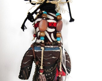 Guardian Witch Doctor One of a Kind Handmade Wishing Doll
