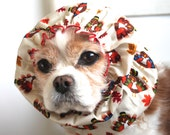 Thanksgiving Turkey Dog Snood, Stay-Put 3 Rows Elastic Thread, Long Ear Coverup, Cavalier King Charles or Cocker Snood