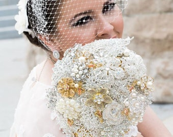 Brooch Wedding Bouquet - Crystal Bouquet - Rhinestone Bouquet - Broach Bouquet - Bridal Bouquet - Wedding bouquet - Alternative - Deposit