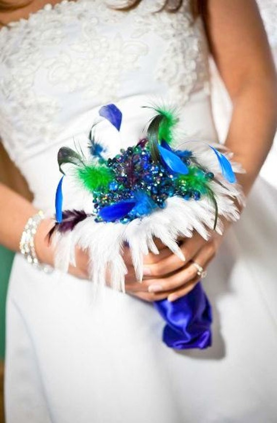Crystal Bouquet - Brooch Bouquet - Wedding Bouquet - Bridal Bouquet - Feather Bouquet - Broach Bouquet - Keepsake Bouquet - Deposit