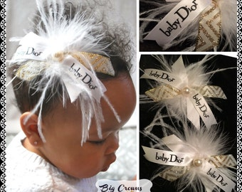 Baby Dior hairpieces clips or cam be made like a headband your choice . Baby toddler or young girls