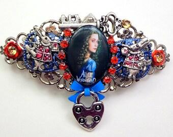 Alice Barrette, Alice in Wonderland,Swarovski Crystal Hair Jewelry, Fairy Tale Hair Accessories, Hair Jewelry, Hair Statement, Classic Tale