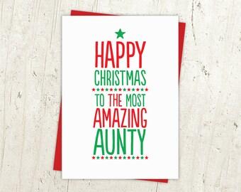 Most Amazing Aunty Christmas Card