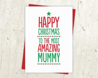Most Amazing Mummy, Mum, Dad or Daddy Christmas Card