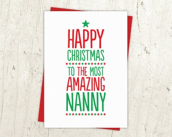 Most Amazing Nanny Christmas Card