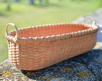 Bread Baguette Hybrid Shaker Style/Nantucket Lightship basket Nina Webb Basket Handwoven Rattan