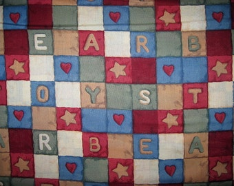 1 Yard, Patchwork BLOCKS, Cotton Fabric, Teddy Bears, Patchwork, Toys, Patchwork, blocks, teddy, bear, bears and toys,