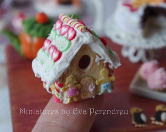 Miniature gingerbread  house for dollhouse