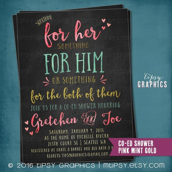 Chalkboard Something for Him Her or Something for the Both of