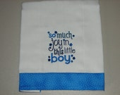 Infant Burp Cloth, Baby Burp Cloth, So Much Joy In This Little Boy, Diaper Burp Cloth, Amazing Gifts Boutique