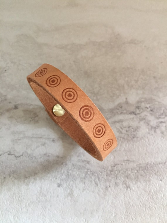 Handmade Natural Branded Leather Bracelet