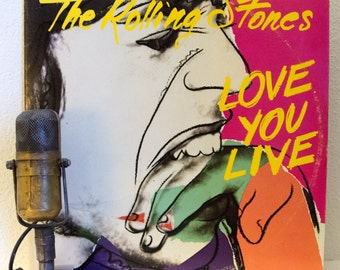 "ON SALE Rolling Stones Vinyl Record Album Mick Jagger The Rolling Stones 2LP ""Love You Live"" (Original 1977 Rs Records w/""Honky Tonk Women"")"