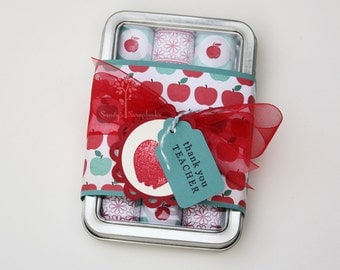 Teacher gift, thank you gift, chocolate candy gift, nugget tin candy, hershey nugget, school