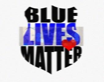Blue Lives Matter Svg Dxf Png Pdf   Commercial Use SVG Car decal   tshirt svg   Police SVG   Police Badge svg   Back the Blue SVG