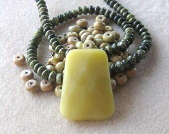 Olive Jade, Green Line Jasper, Jewelry Making Beads, DIY Jewelry Kit, Bead Kit, Gemstone Bead, Jewelry Making Kit, Craft Supply, Bead Supply