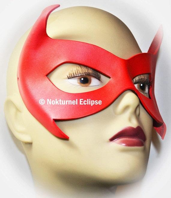 Red Robin AKA Damian Wayne Leather Mask Gotham Superhero Masquerade Batgirl Batman Geek DC Comic Con Cosplay Costume UNISEX