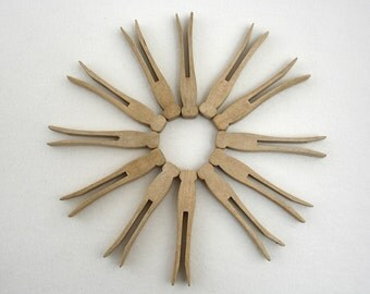 Vintage Wooden Clothes Pins or Pegs