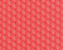 Moda Fig Tree Farmhouse Quilt Fabric Small Flowers Tomato Red - By The 1/2Y