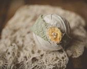OOAK yellow and wool Headband