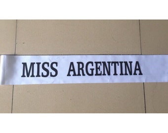 Miss Argentina Sash