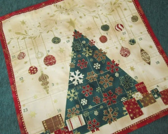 Advent Calendar Brilliant Christmas by Stof, Christmas Decoration, Wallhanging, Holiday Decor, Traditional Christmas