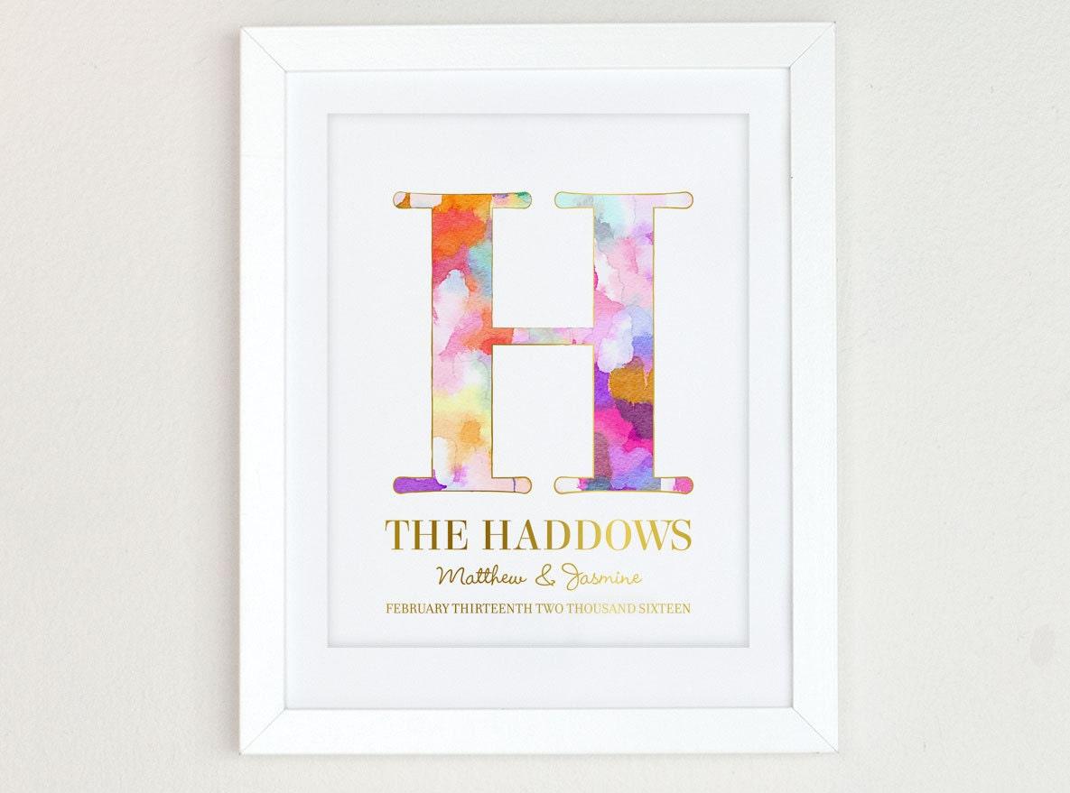 Art Print Wedding Gift : Modern Wedding Gift Art Print Wedding Gift for Couple