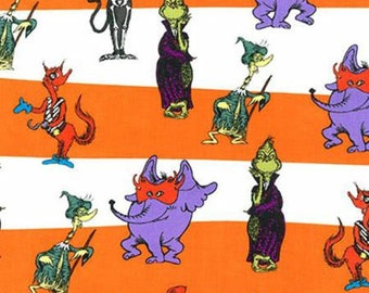 Robert Kaufman Dr. Seuss Eerie Spooktacular Suess Fabric - 1 yard