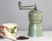 Vintage Coffee Grinder green grinder