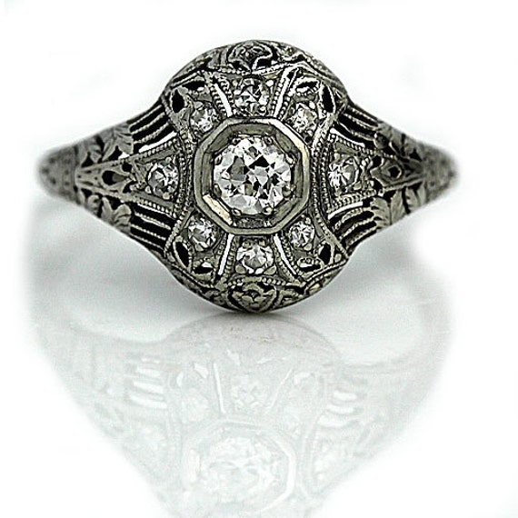 antique engagement ring 41ctw edwardian by