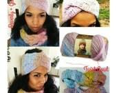 Crochet Headband Pattern - Crochet Cowl Pattern- Chunky Crochet Cowl - Easy Crochet Cowl - Plus Size Clothing - Crochet Basketweave Stitch